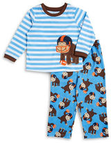 Little Me Ape Striped Tee and Pants Set