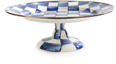 Mackenzie Childs Royal Check Pedestal Platter