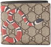 Gucci GG Supreme Kingsnake-print wallet
