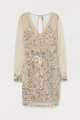 H&M Mesh dress with sequins