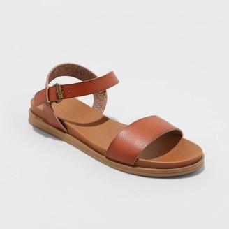 Universal Thread Women's Nyla Wide Width Ankle Strap Sandals - Universal ThreadTM 5W