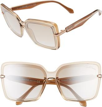 Roberto Cavalli 62mm Oversize Flat Front Butterfly Sunglasses