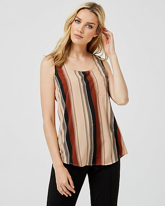 Le Château Stripe Scoop Neck Tank Top