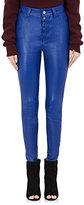 Ben Taverniti Unravel Project Women's Leather Boyfriend Skinny Jeans