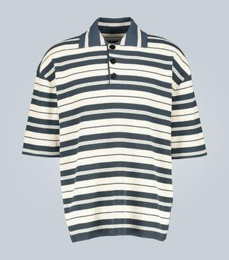 Jil Sander Striped knitted polo shirt