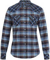 Dolce & Gabbana Point-collar checked cotton shirt