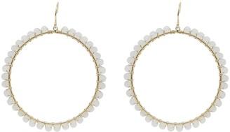 Ettika 18K Gold Plated Opal Wrapped Hoop Earrings
