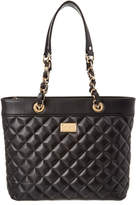 St. John Quilted Leather Tote