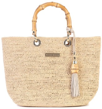 Heidi Klein Savannah Bay Mini raffia tote