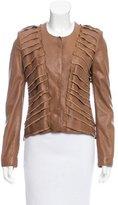 Roberto Cavalli Layered Leather Jacket