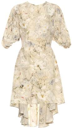 Alexander McQueen Floral silk minidress