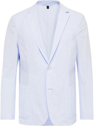 HUGO BOSS Unstructured Pinstriped Cotton-Seersucker Blazer