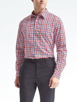 Banana Republic Camden Standard-Fit Custom-Wash Plaid Shirt