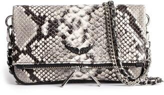 Zadig & Voltaire Rock Nano Wild Snakeskin Embossed Leather Crossbody