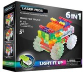 Laser Pegs 6 in 1 Monster Truck Lighted Construction Toy