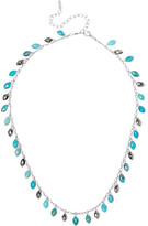 Chan Luu Silver, Turquoise And Pyrite Necklace - one size