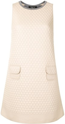 Paule Ka Diamond Quilted Mini Dress