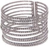 Natasha Accessories 10 Row Crystal Cuff Bracelet
