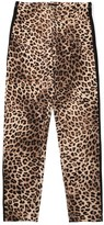 MonnaLisa LEOPARD PRINT COTTON JERSEY LEGGINGS