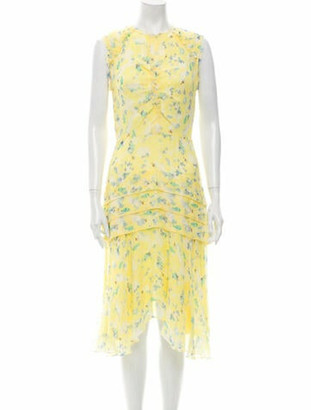Jason Wu Silk Midi Length Dress w/ Tags Yellow