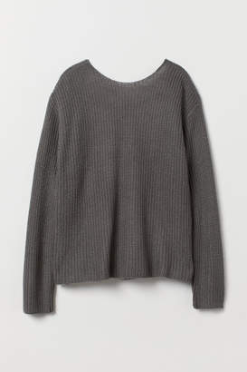 H&M Open-backed Sweater - Gray