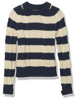 L.L. Bean Signature Cotton Fisherman Sweater, Stripe