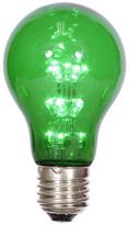 Vickerman A19 LED Transparent Bulb E26 Neck Base, Green