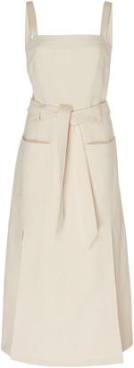 Martin Grant Belted Cotton Midi Dress