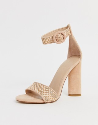 KENDALL + KYLIE block heeled sandals-Beige
