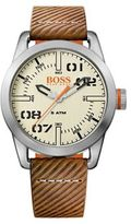 Boss Orange Gents Grey Strap Watch 1513418