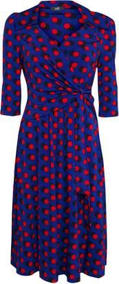 Wallis **Jolie Moi Royal Blue Polka Dot Wrap Dress