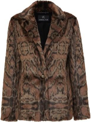 Unreal Fur Leopard-Print Blazer