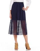 Daniel Cremieux Keli Flounce A-Line Lace Skirt