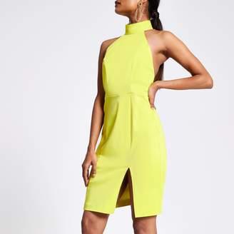River Island Womens Petite Green cut out back bodycon dress