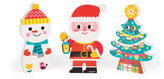 Janod Funny Father Christmas and Friends Magnets