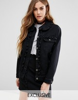 Reclaimed Vintage Denim Jacket With Frill Detail Co-Ord