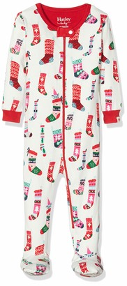 Hatley Baby Girls' Organic Cotton Footed Sleepsuit