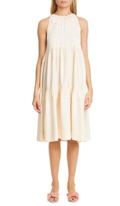 Rosetta Getty Tiered Trapeze Dress