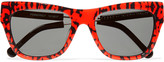Preen by Thornton Bregazzi Pemberely D-frame acetate and metal sunglasses