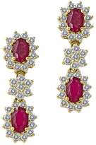 Effy Jewelry Gemma Royalty Ruby and Diamond Earrings, 3.63 TCW