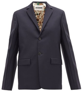 Jil Sander Single-breasted Wool-blend Jacket - Navy