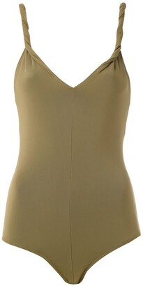 Andrea Marques Twisted Straps Bodysuit