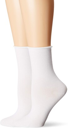 Dr. Scholl's Women's American Lifestyle Collection Roll Top Crew Socks (2 Pack)