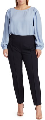 Lafayette 148 New York, Plus Size Albright Silk Blouse