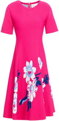 Carolina Herrera Flared Floral-jacquard Dress