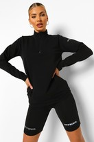 Thumbnail for your product : boohoo Reflective Half Zip Active Top