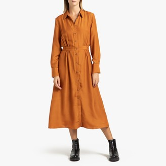 Frnch Adelicia Mid-Length Dress with Long Sleeves