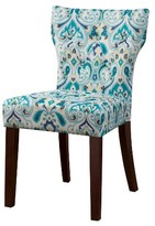 Nobrand No Brand Saffron Tufted Back Dining Chair - Blue/Yellow (Set of 2)