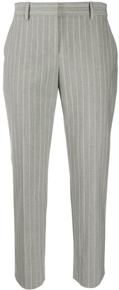 Theory Tailored Cropped Pinstripe Trousers
