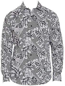 Robert Graham Men's Bellamy Cotton Abstract-Print Sport Shirt